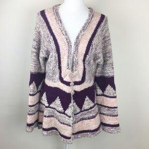 Free People Boho Aztec Sweater Cardigan